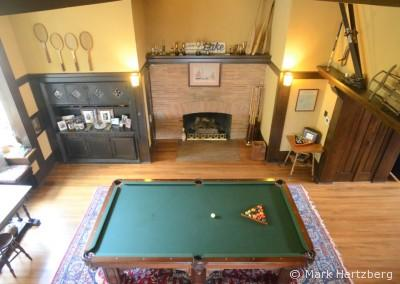 Billiard room from above