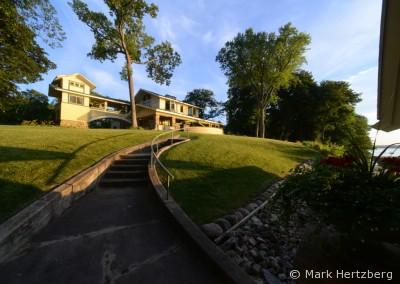 Penwern stairs to lake