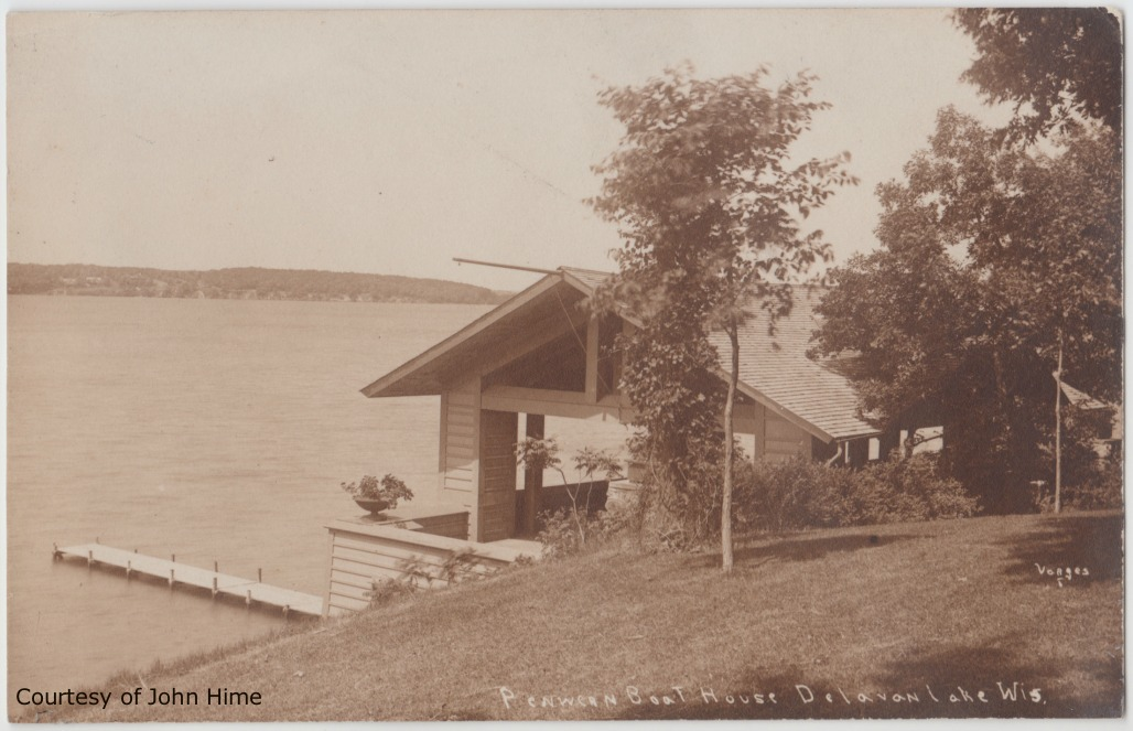 Penwern Boat House: Postcard Courtesy of John Hime