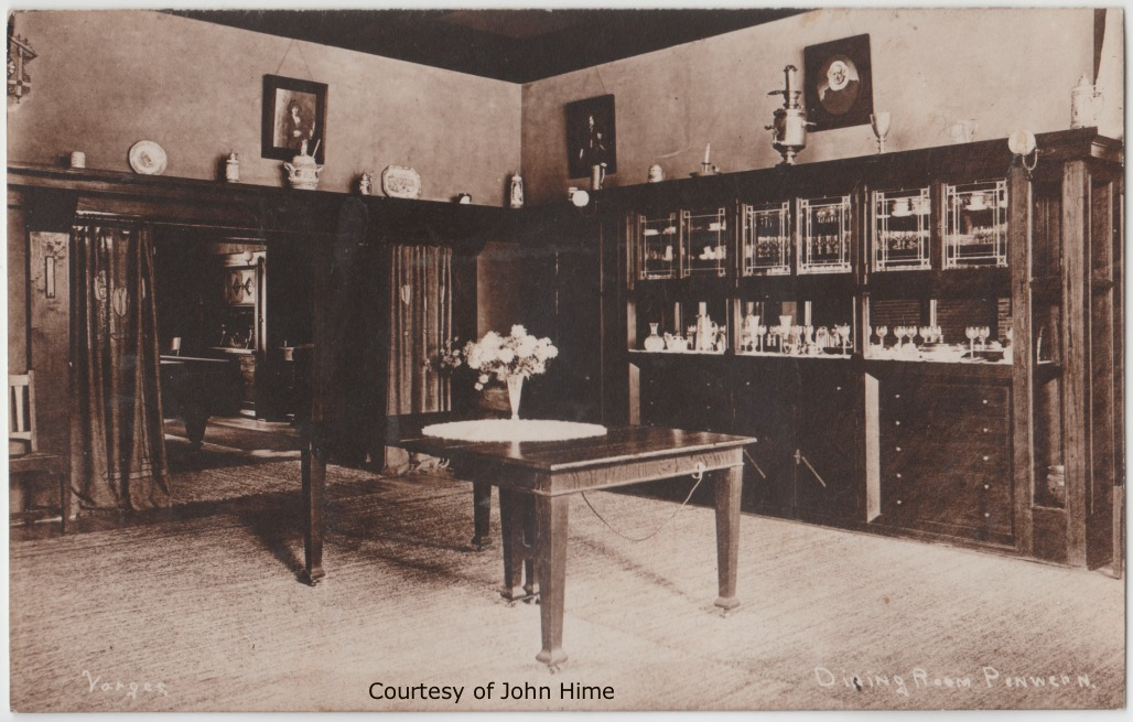 Penwern Dining Room: Postcard Courtesy of John Hime