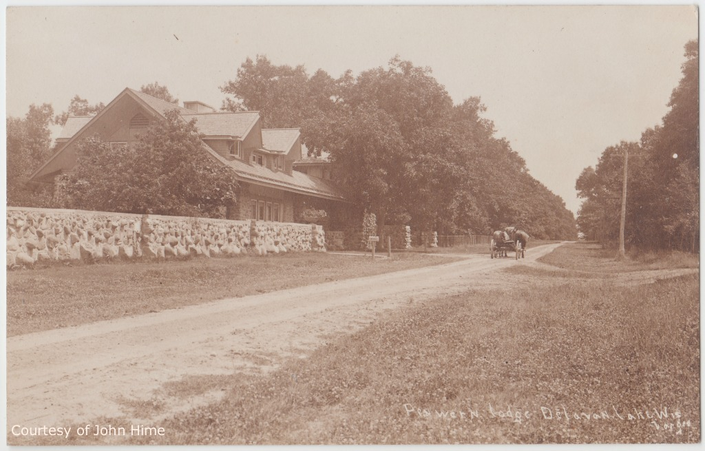 Gate Lodge and Road: Postcard Courtesy of John Hime