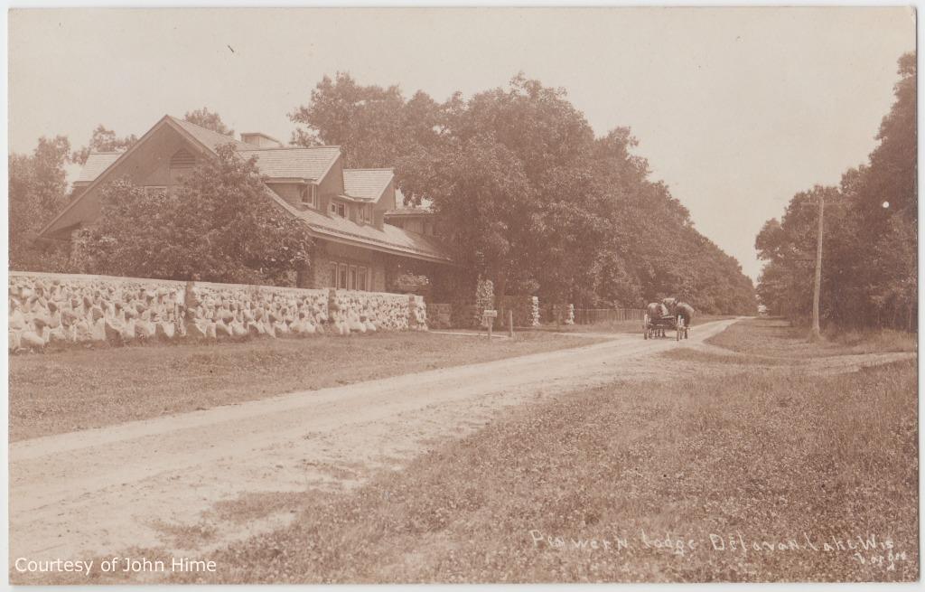 Gate Lodge and Road: Postcard Courtesy of John Hime