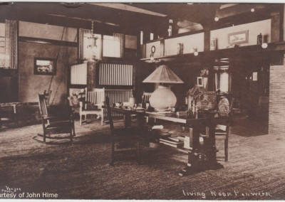 Penwern Living Room: Postcard Courtesy of John Hime