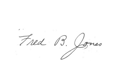 Jones signature 1904