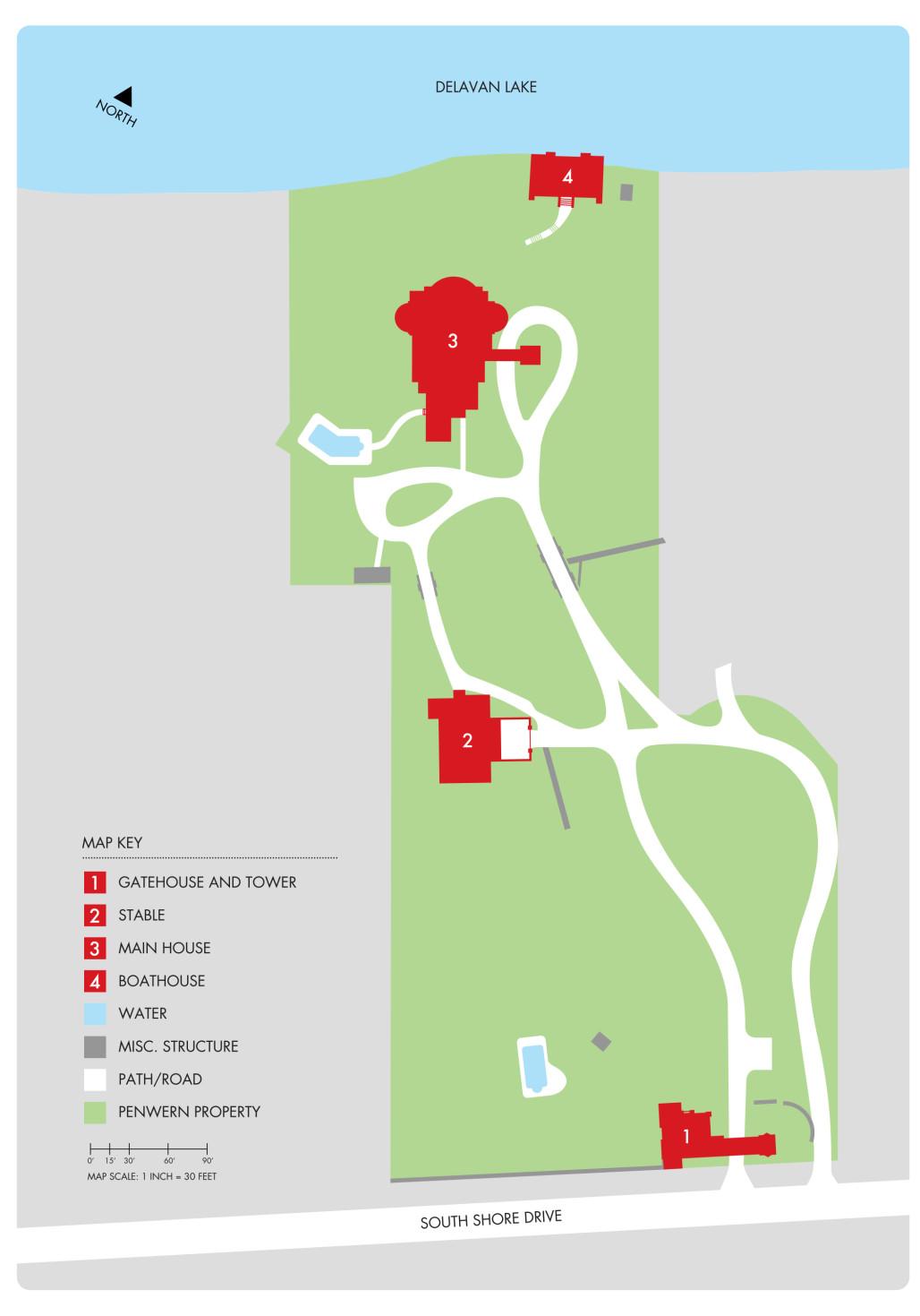 Penwern Map